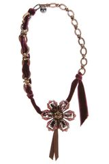 Lanvin Flower Necklace - Lyst