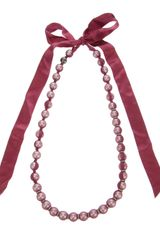 Lanvin Ribbonembellished Necklace - Lyst