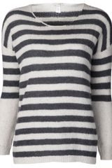 Massimo Alba Boat Neck Striped Sweater - Lyst
