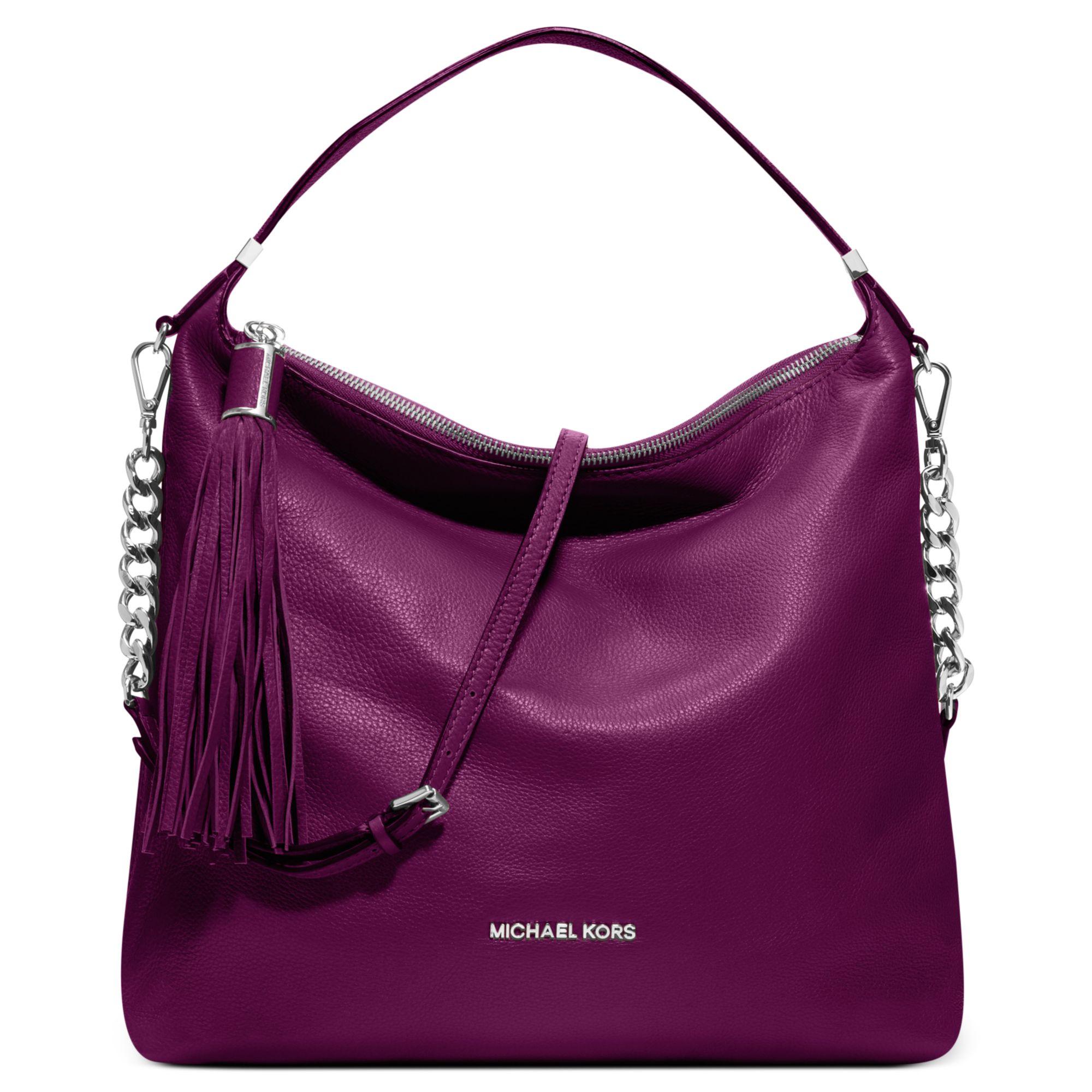 Michael Kors Weston Large Shoulder Bag in Purple (Pomegranate)