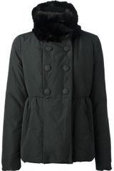 Moncler Fur Collar Coat - Lyst