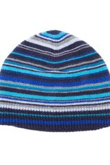 Paul Smith Striped Beanie Hat - Lyst