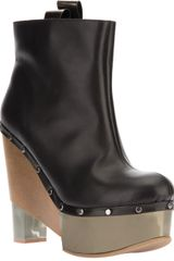Pollini Leather Platform Boot - Lyst
