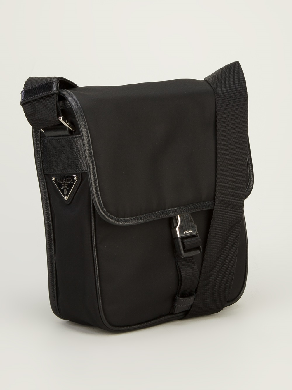 Prada Messenger Bag In Black For Men Lyst