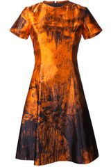 Proenza Schouler Printed Satin Dress - Lyst