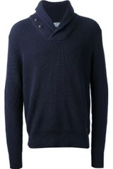 Ralph Lauren Blue Label Button Neck Sweater - Lyst