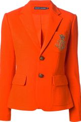 Ralph Lauren Blue Label Two Button Blazer - Lyst