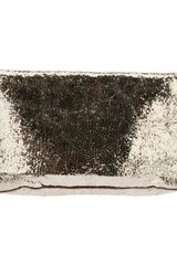 Roberto Collina Metallic Calf Leather Clutch - Lyst