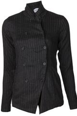 Transit Pinstriped Double Breasted Jacket - Lyst