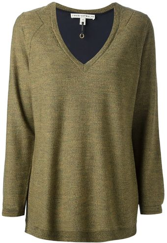 Twenty 8 Twelve V-neck Wool Sweater - Lyst