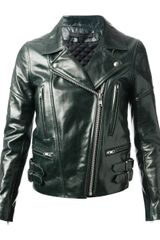 Victoria Beckham Leather Biker Jacket - Lyst