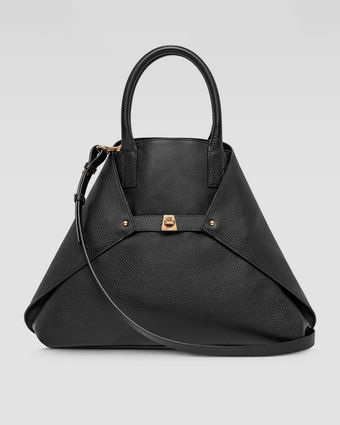 Akris Ai Calf Medium Shopper Tote Bag Black - Lyst