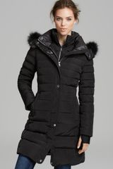 Andrew Marc Down Coat Fur Trim Sport Hooded - Lyst