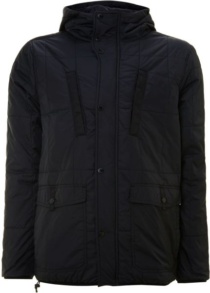 Bench Hooded Puffer Jacket In Black For Men Lyst