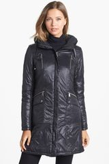 DKNY Lightweight Down Feather Coat - Lyst