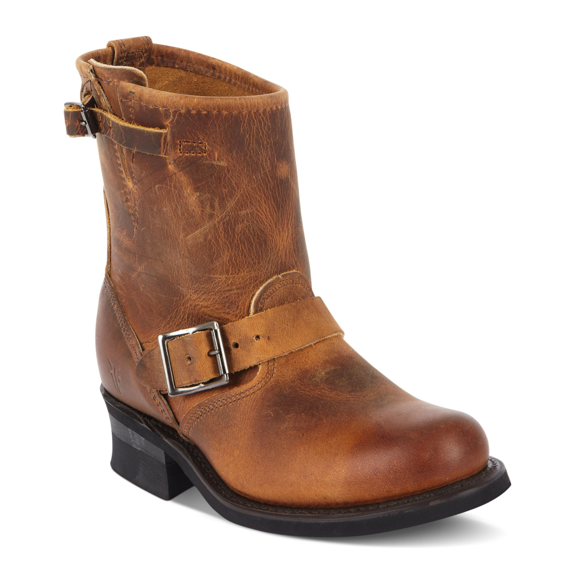 frye s engineer 8r boots in brown brown