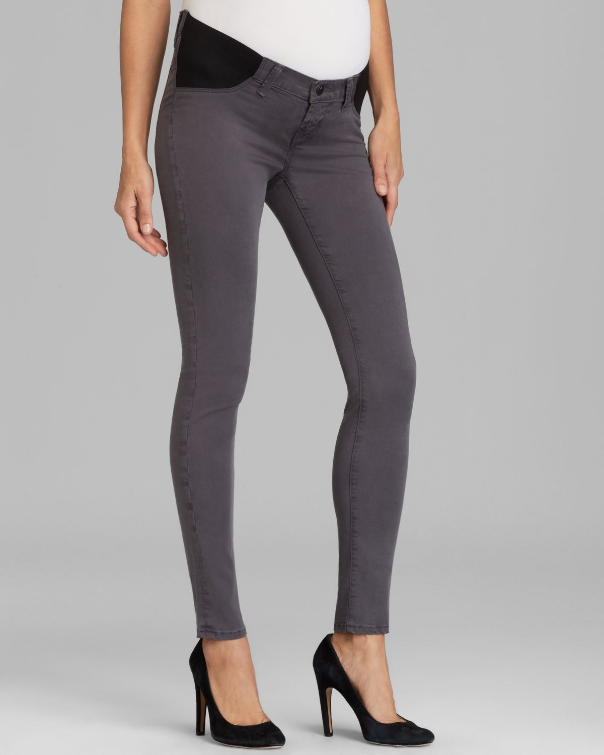 J brand Maternity Jeans Mama J Legging in Ash Grey Sateen in Gray ...