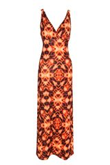 Jane Norman Blurred Print Maxi Dress - Lyst