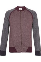 Topman Burgundy Neppy Lambswool Crew Neck Jumper - Lyst