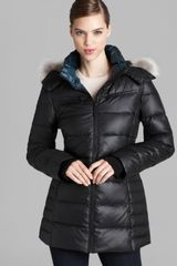 Marc New York Down Coat Fur Trim Hood - Lyst