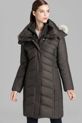Marc New York Down Coat Mixed Chevron Quilt - Lyst