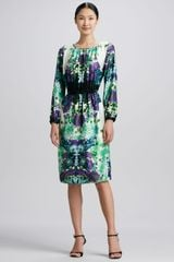 Melissa Masse Vintage Garden Printed Dress - Lyst