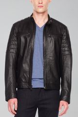 Michael Kors Leather Racer Jacket - Lyst