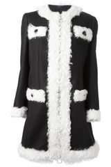 Moschino Cheap & Chic Shearling and Wool Coat - Lyst