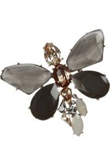 Oscar de la Renta Goldplated Crystal Bug Brooch - Lyst