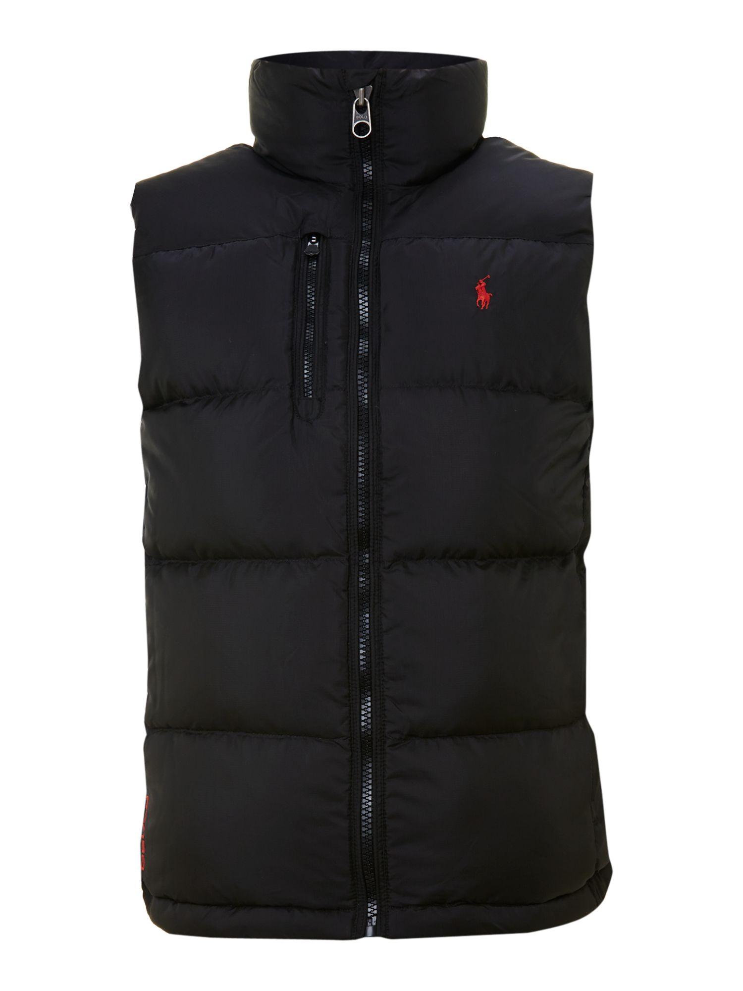 Polo Ralph Lauren Core Trek Padded Gilet In Black For Men