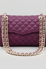 Rebecca Minkoff Quilted Affair Mini Shoulder Bag Plum - Lyst