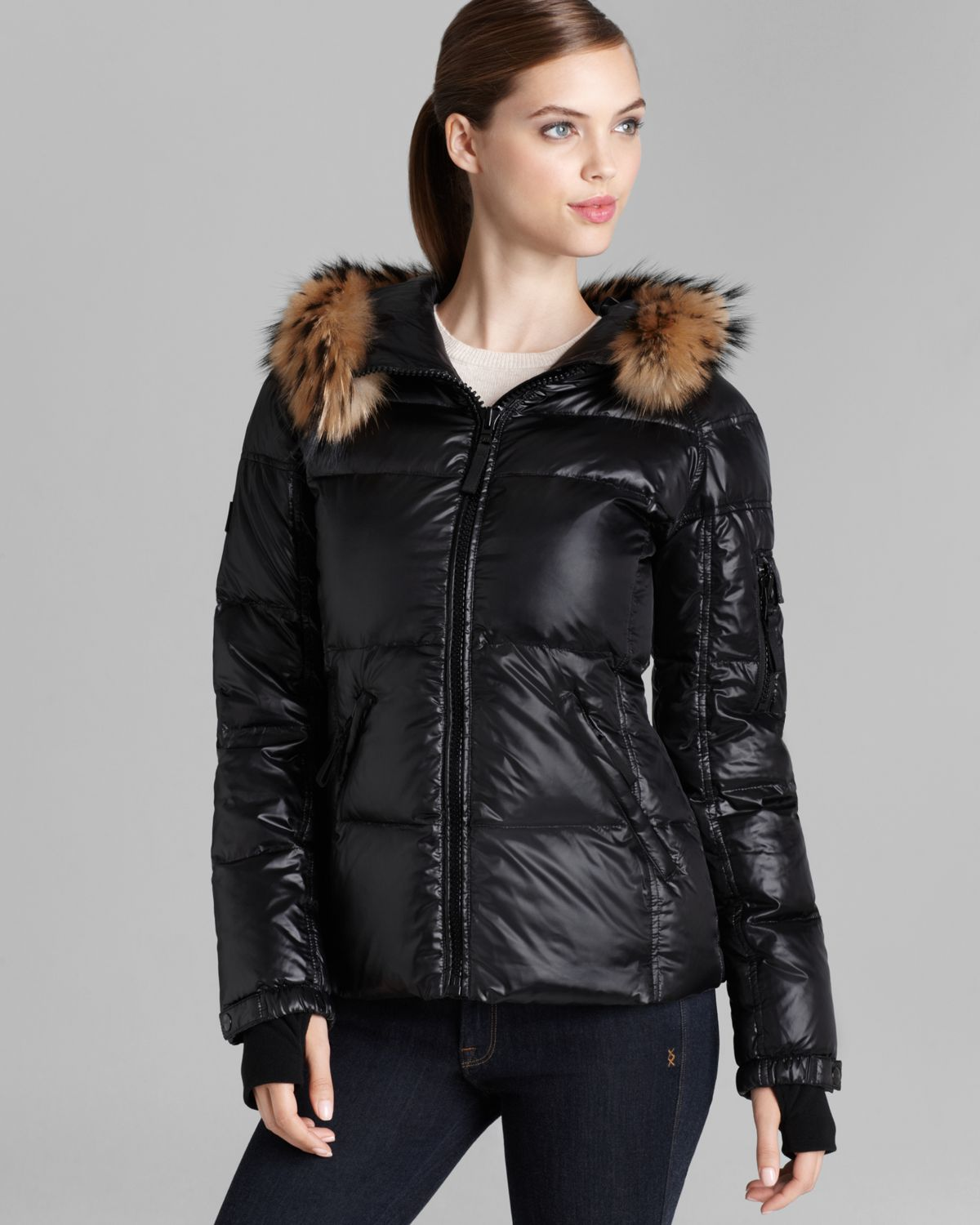 e29dc95fd90a Lyst - Sam. Blake Fur Trimmed Down Jacket in Black