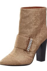 See By Chloé Metallic Pointedtoe Bootie Gold - Lyst