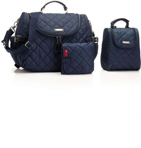 Storksak Poppy Convertible Diaper Bag in Blue (Navy)