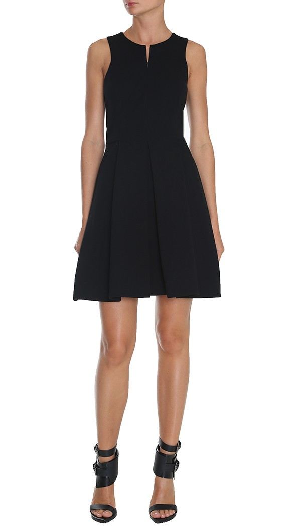 Tibi long black dress