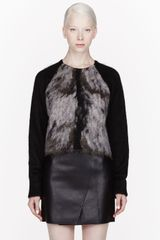 Alexander Wang Mohair Fur Spine Sweater - Lyst
