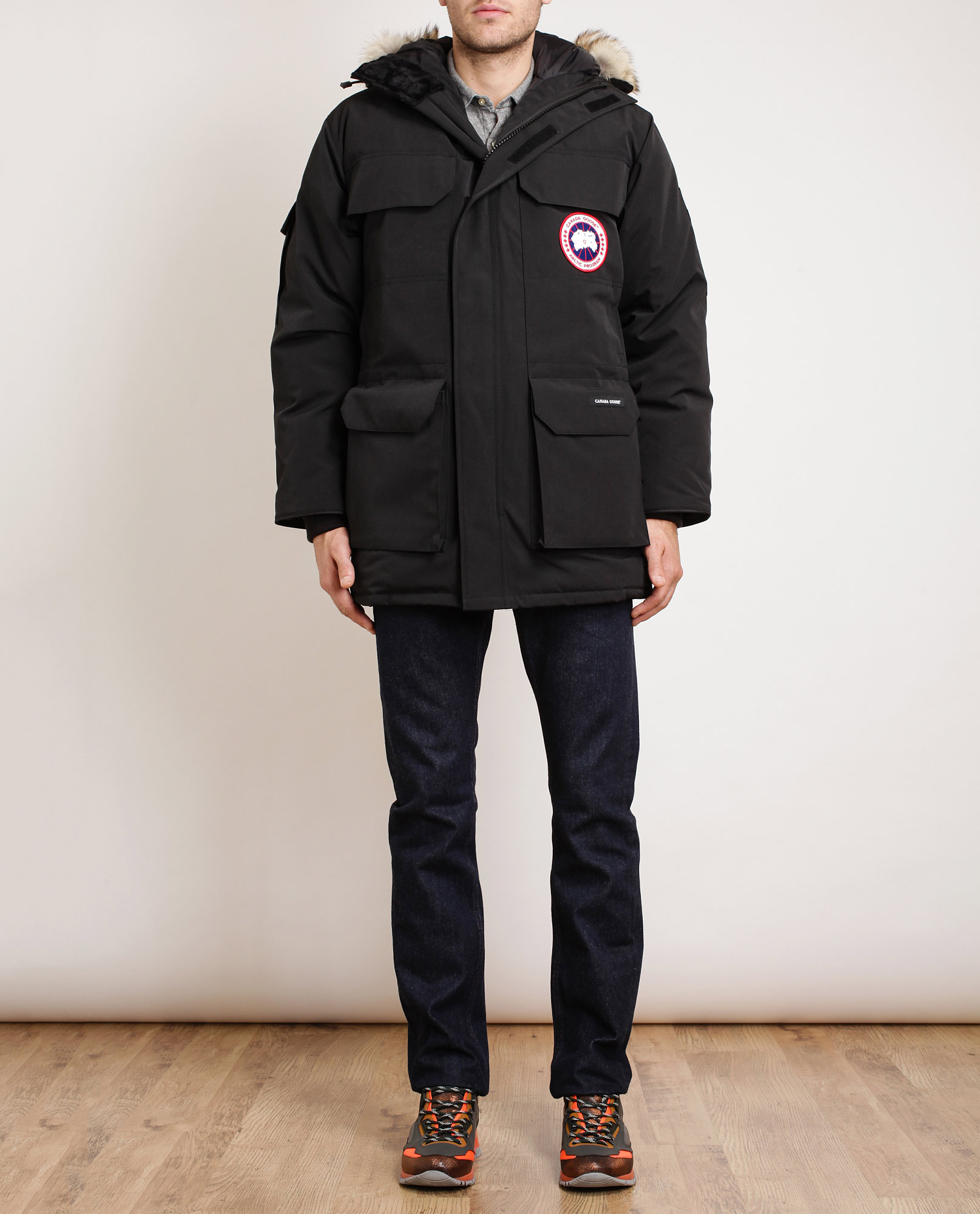 4a489536c3c1 ... order lyst canada goose expedition duck down padded parka in black for  men 0e7c4 20fca