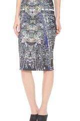 Clover Canyon Russian Enamel Pencil Skirt - Lyst