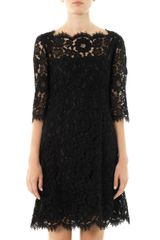 Dolce & Gabbana Lace Halfsleeve Dress - Lyst