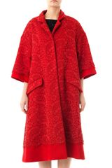 Dolce & Gabbana Lace and Wool A-line Coat - Lyst