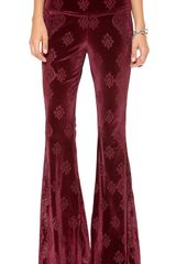 Free People Engineers Burnout Velour Flare Pants - Lyst