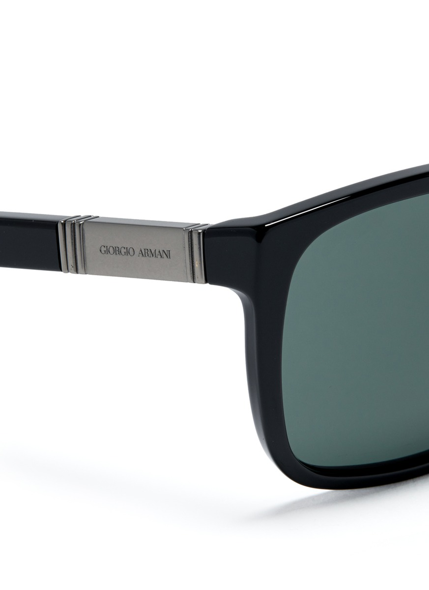 Giorgio armani Plastic Square Frame Sunglasses in Black ...
