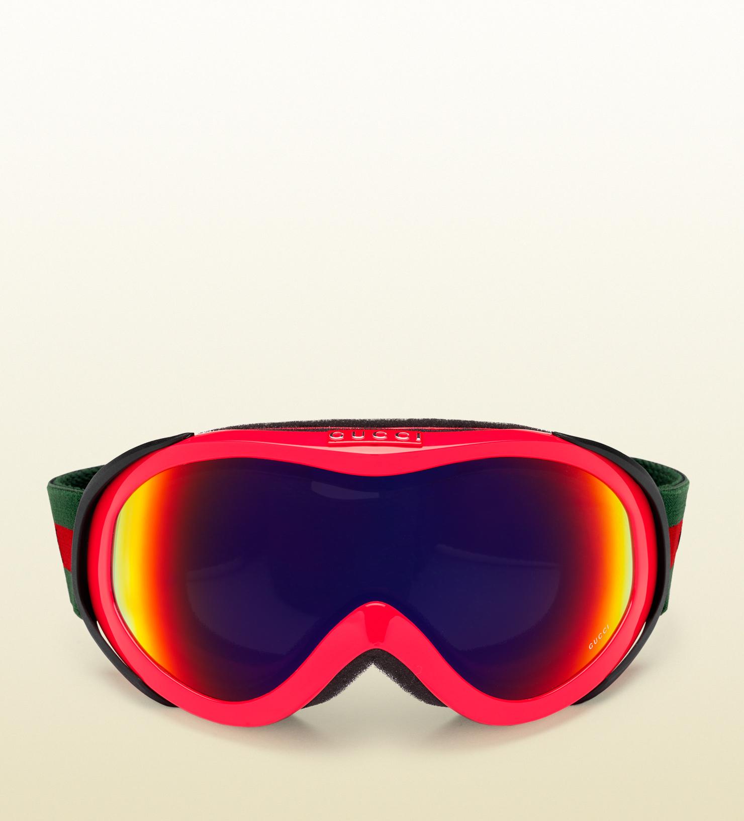 94a532c0bf6 Gucci Neon Fuchsia Ski Goggles in Red for Men - Lyst
