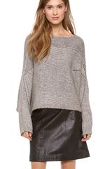 Helmut Lang Polar Knit Crop Sweater - Lyst