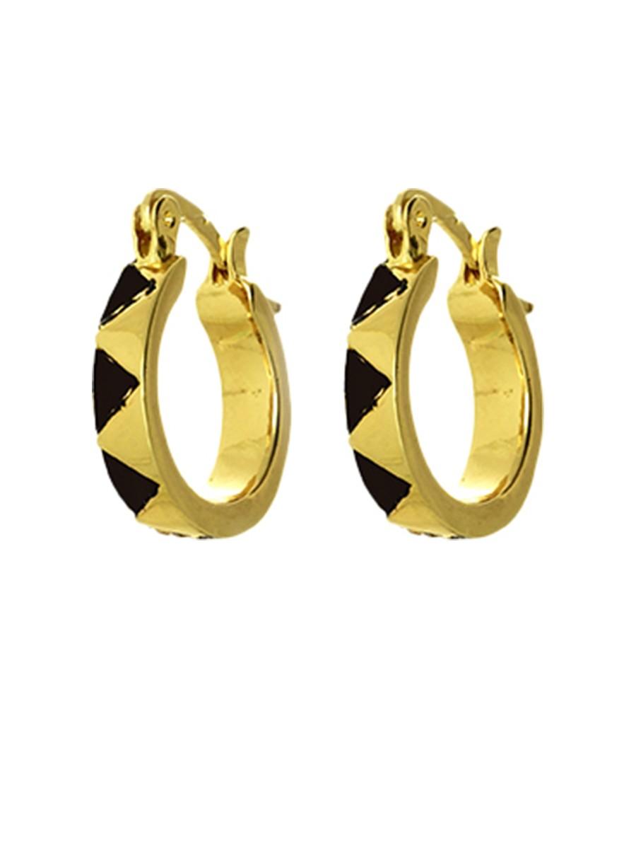 house of harlow 1960 enamel huggie earrings in black lyst