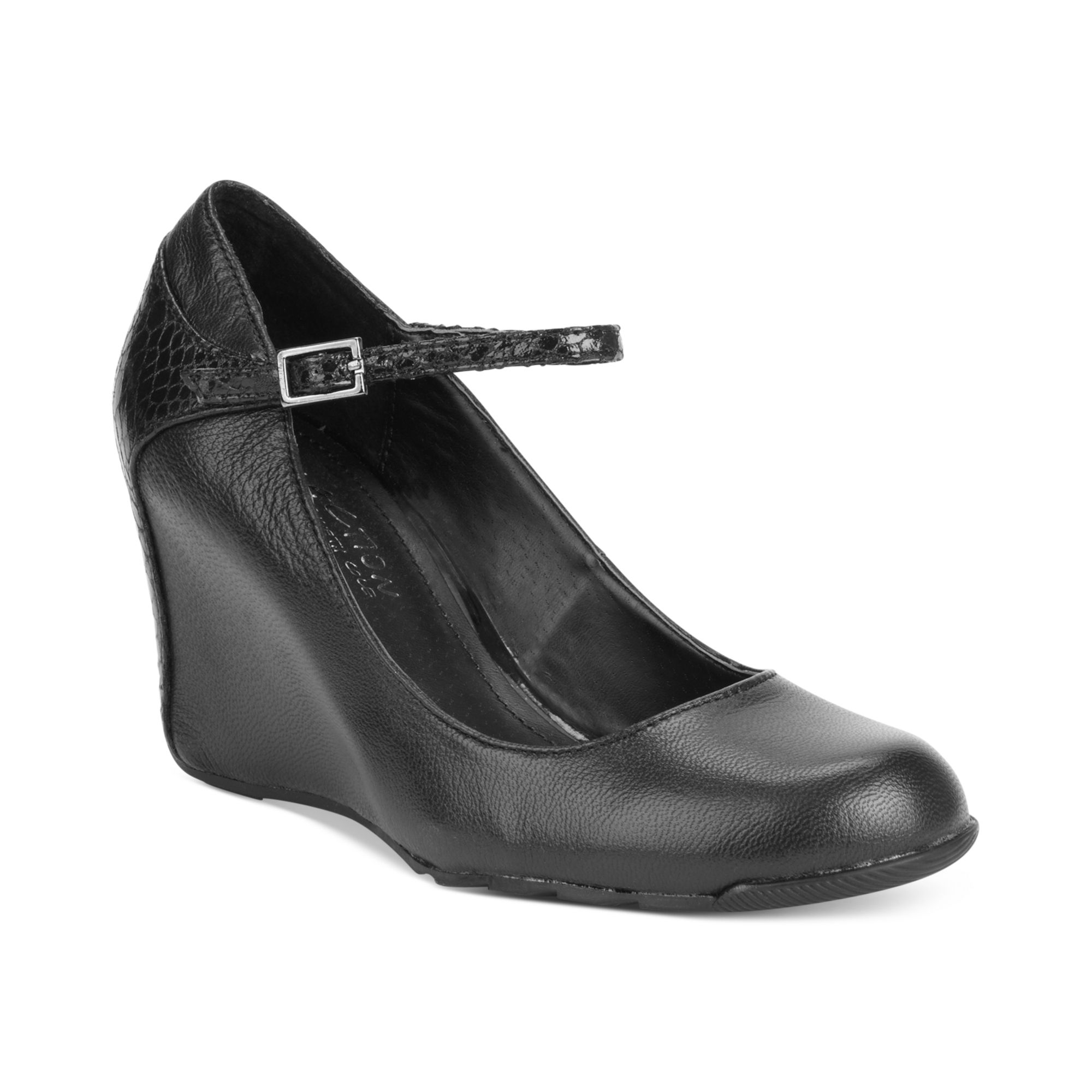 Lyst Kenneth Cole Reaction Tell Me Mary Jane Wedges In Black