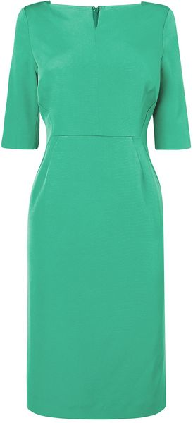 LK Bennett Tan Fitted Dress - Lyst
