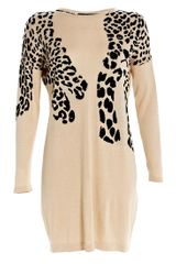 Maxmara Weekend Ebro Knitted Leopard Dress - Lyst