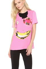 Moschino Cheap and Chic Face Tee - Lyst