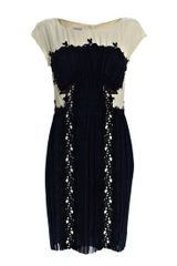 Philosophy di Alberta Ferretti Pleat Embroidered Dress - Lyst